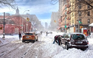 Winter in New York wallpapers and stock photos