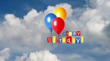 Happy Birthday Balloons wallpapers and stock photos
