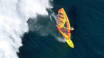 Windsurfer from Above wallpapers and stock photos
