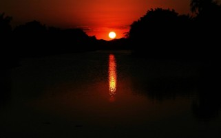 River Sunsets wallpapers and stock photos