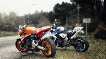 Honda Motorbikes wallpapers and stock photos