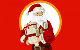 Santa Claus in Red wallpapers and stock photos