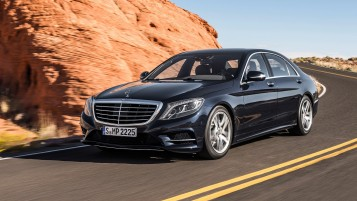 Mercedes-Benz S-Klasse Side Angle Speed wallpapers and stock photos