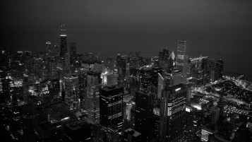 Chicago Aerial View wallpapers and stock photos