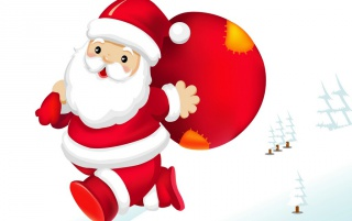Santa On The Run wallpapers and stock photos