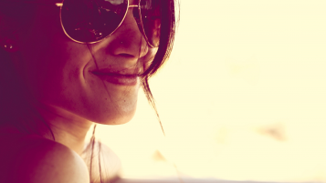 Girl with Sunglasses Smiling wallpapers and stock photos