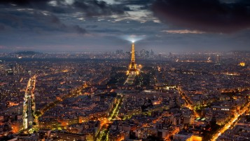 Paris Night Cityscape wallpapers and stock photos