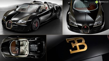 Bugatti Veyron Black Bess wallpapers and stock photos