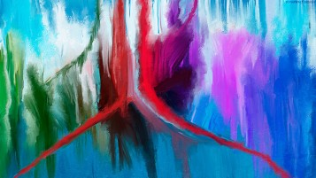 Random: Abstract Colored Painting