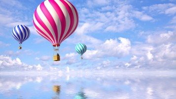 Digital Air Balloons wallpapers and stock photos