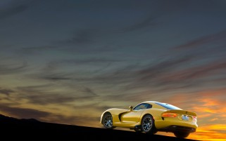 Yellow SRT Viper Rear Angle wallpapers and stock photos