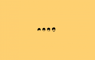 Die Beatles Minimalistische Illustration wallpapers and stock photos