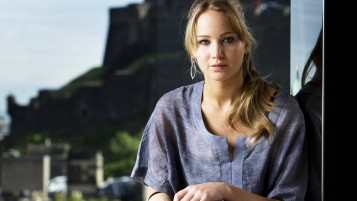 Jennifer Lawrence Casual Pose wallpapers and stock photos