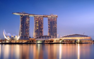 Marina Bay Sands at Night wallpapers and stock photos