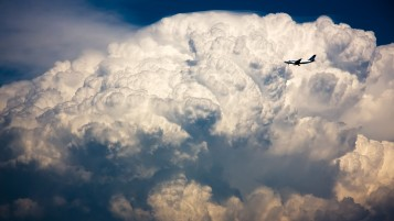 Airplane and Clouds wallpapers and stock photos