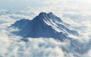 Mount Olympus Aerial View wallpapers and stock photos