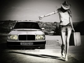 Mercedes W124 wallpapers and stock photos
