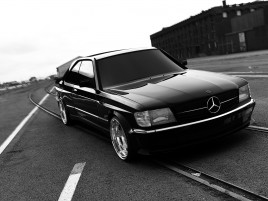 Mercedes 560 SEC AMG wallpapers and stock photos