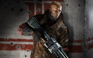 Wolfenstein der neuen Ordnung Spiel wallpapers and stock photos