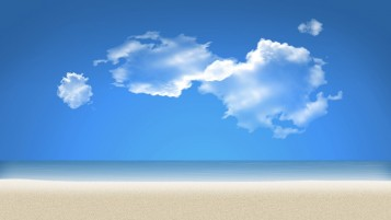 Beach and Blue Sky wallpapers and stock photos
