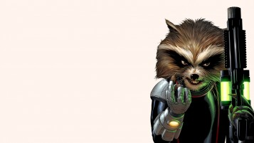 Rocket Raccoon Illustration wallpapers and stock photos
