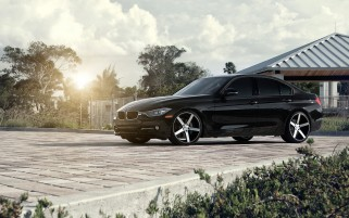Black BMW 3 Series F30 wallpapers and stock photos