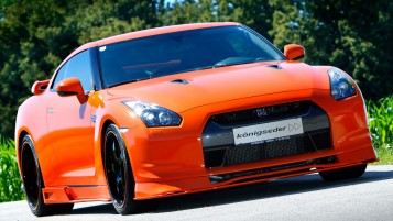 Bright Orange Nissan GT-R R35 wallpapers and stock photos