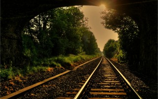 Rail Road Tracks Mood wallpapers and stock photos
