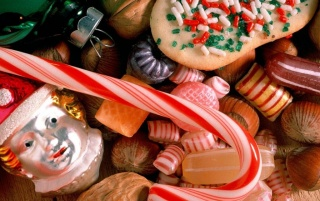 Sweet Santa Candy wallpapers and stock photos