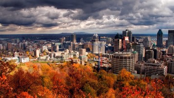 Montreal in the Autumn wallpapers and stock photos