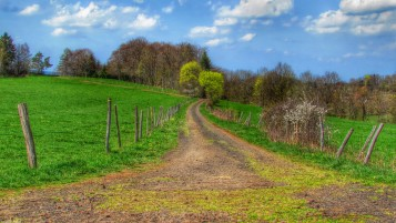 Countryside in HDR. wallpapers and stock photos