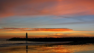 Lighthouse at Sunset wallpapers and stock photos
