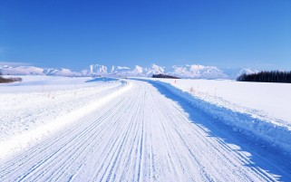 Snow Scenery & Road wallpapers and stock photos
