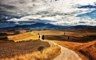 Pretty Tuscany Landscape wallpapers and stock photos