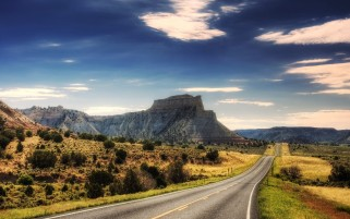 Long Road Mountains Scenic wallpapers and stock photos