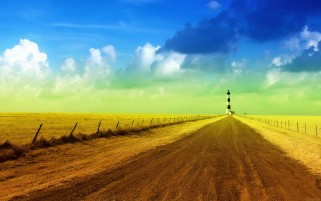 Beacon Fences Dirty Road Field wallpapers and stock photos