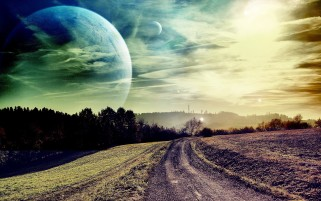 Dirty Way Planets Fields Trees wallpapers and stock photos