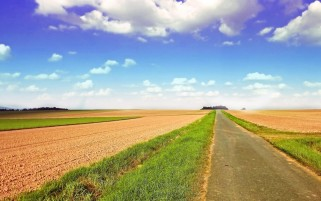 Arable Fields Grass Road Sky wallpapers and stock photos