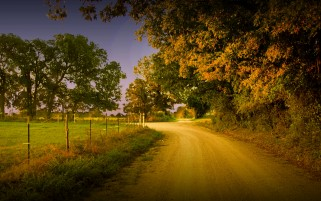 Dusty Country Road wallpapers and stock photos