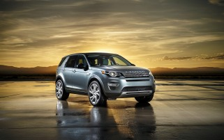 2015 Land Rover Discovery Sport Spaceport Side Angle wallpapers and stock photos