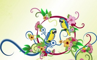 Abstract Parrots wallpapers and stock photos