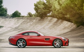 2015 Mercedes AMG GT Feuer-Opal-Static Side wallpapers and stock photos