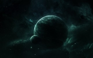 Green Planets Outer Space wallpapers and stock photos