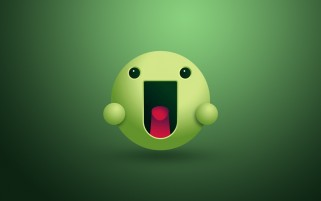 Green Funny Smiley wallpapers and stock photos