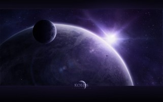 Purple Outer Space & Light wallpapers and stock photos