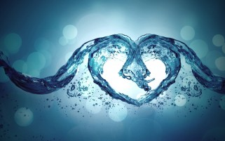 Digital Water Heart wallpapers and stock photos