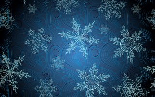 Random: Blue Snowflakes Digital Art