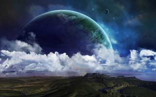 Beautiful Space Planets Clouds wallpapers and stock photos