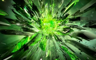Powerful Broken Crystals Green wallpapers and stock photos