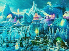 Fantasy Painting Ice Mountain wallpapers and stock photos